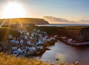 An image of Staithes from the Cliff Tops - Duncan Lomax