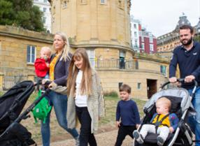 An image of Family enjoying their day out at the Rotunda Museum - Duncan Lomax